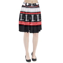 Compact Cassette Musicassette Mc Pleated Skirt