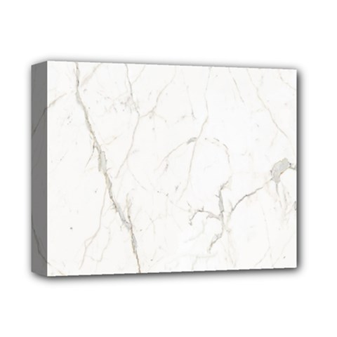 White Marble Tiles Rock Stone Statues Deluxe Canvas 14  X 11