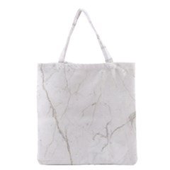 White Marble Tiles Rock Stone Statues Grocery Tote Bag