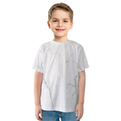 White Marble Tiles Rock Stone Statues Kids  Sport Mesh Tee