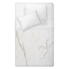 White Marble Tiles Rock Stone Statues Duvet Cover (single Size) by Nexatart