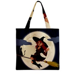 Witch Witchcraft Broomstick Broom Grocery Tote Bag