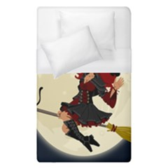 Witch Witchcraft Broomstick Broom Duvet Cover (single Size)