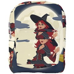 Witch Witchcraft Broomstick Broom Full Print Backpack