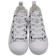 Abuse Background Monochrome My Bits Kid s Mid Top Canvas Sneakers