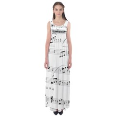 Abuse Background Monochrome My Bits Empire Waist Maxi Dress