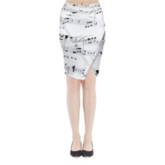 Abuse Background Monochrome My Bits Midi Wrap Pencil Skirt