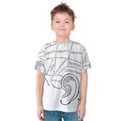 Brain Chart Diagram Face Fringe Kids  Cotton Tee