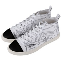 Brain Chart Diagram Face Fringe Men s Mid Top Canvas Sneakers by Nexatart