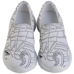 Brain Chart Diagram Face Fringe Kid s Lightweight Slip Ons by Nexatart