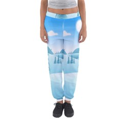 Landscape Winter Ice Cold Xmas Women s Jogger Sweatpants