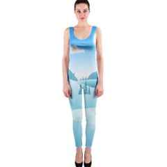 Landscape Winter Ice Cold Xmas One Piece Catsuit