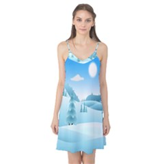 Landscape Winter Ice Cold Xmas Camis Nightgown