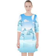 Landscape Winter Ice Cold Xmas Pocket Dress