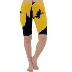 Castle Cat Evil Female Fictional Cropped Leggings