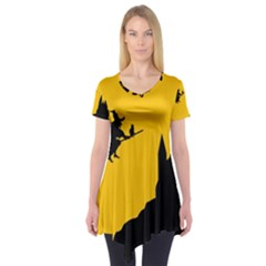 Castle Cat Evil Female Fictional Short Sleeve Tunic