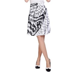 Animal Bird Forest Nature Owl A Line Skirt