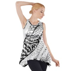 Animal Bird Forest Nature Owl Side Drop Tank Tunic