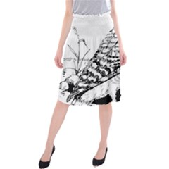 Animal Bird Forest Nature Owl Midi Beach Skirt