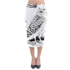 Animal Bird Forest Nature Owl Midi Pencil Skirt