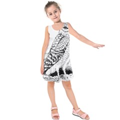 Animal Bird Forest Nature Owl Kids  Sleeveless Dress