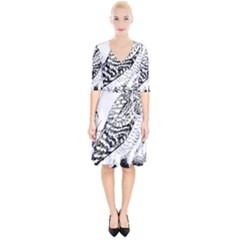 Animal Bird Forest Nature Owl Wrap Up Cocktail Dress