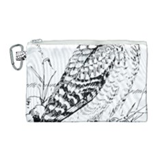 Animal Bird Forest Nature Owl Canvas Cosmetic Bag (large)