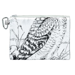 Animal Bird Forest Nature Owl Canvas Cosmetic Bag (xl) by Nexatart