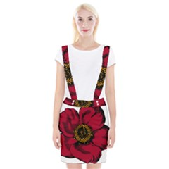 Floral Flower Petal Plant Braces Suspender Skirt