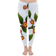 Flower Branch Nature Leaves Plant Classic Winter Leggings
