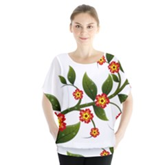 Flower Branch Nature Leaves Plant Blouse