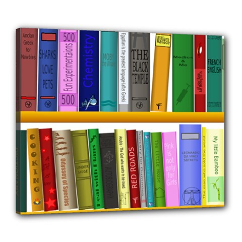 Shelf Books Library Reading Canvas 24  X 20