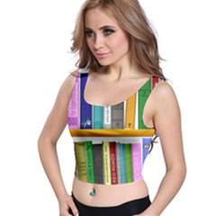 Shelf Books Library Reading Crop Top