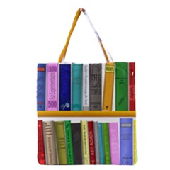 Shelf Books Library Reading Grocery Tote Bag