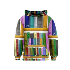 Shelf Books Library Reading Kids  Pullover Hoodie