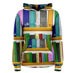 Shelf Books Library Reading Women s Pullover Hoodie