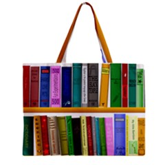 Shelf Books Library Reading Zipper Mini Tote Bag