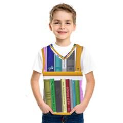 Shelf Books Library Reading Kids  Sportswear