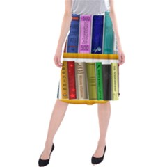 Shelf Books Library Reading Midi Beach Skirt
