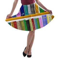 Shelf Books Library Reading A Line Skater Skirt