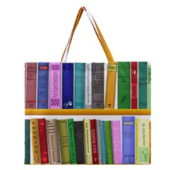 Shelf Books Library Reading Zipper Large Tote Bag