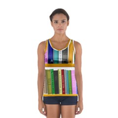 Shelf Books Library Reading Sport Tank Top