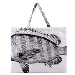 Animal Fish Ocean Sea Zipper Large Tote Bag