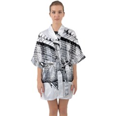 Animal Fish Ocean Sea Quarter Sleeve Kimono Robe