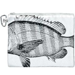 Animal Fish Ocean Sea Canvas Cosmetic Bag (xxxl) by Nexatart