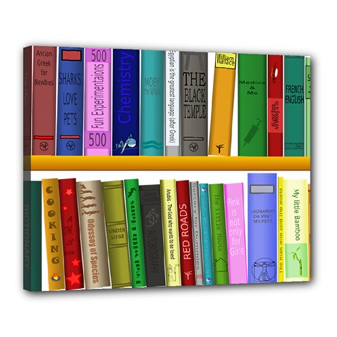 Shelf Books Library Reading Canvas 20  X 16