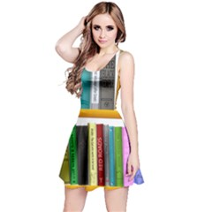 Shelf Books Library Reading Reversible Sleeveless Dress