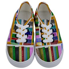 Shelf Books Library Reading Kids  Classic Low Top Sneakers