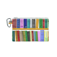 Shelf Books Library Reading Canvas Cosmetic Bag (small)