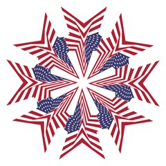 A Star With An American Flag Pattern Straight Umbrellas